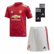 Adidas Man Utd  Home Jersey 2020/21 Mini Kit (Red) 3-4 Years