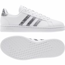 Adidas Grand Court Womens (White Grey Print) 5