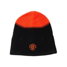 Adidas Manchester United FC Beanie (Black Orange) One Size Adults
