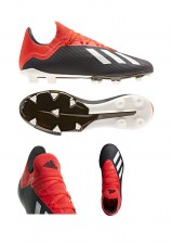 Adidas X 18.3 Firm Gound Boots (Black Red) 8