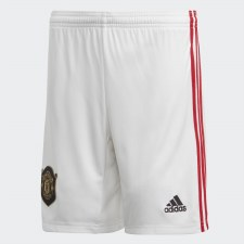 Adidas MUFC Home Short Kids 2019/2020 (White Red) Age 15-16