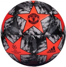 Adidas Manchester Utd Finale Capatino Ball 2018-2019 (Black Grey Solar Red) Size 5