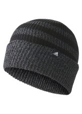 Adidas 3 Stripe Wollie Hat (Grey/Black) OSFL
