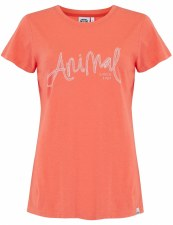 Animal Reel Me In Graphic Tee (Coral) 14