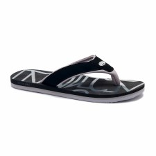 Animal Bazil Logo Mens Flip Flop (Black Grey) 7