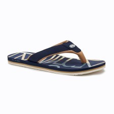 Animal Bazil Logo Mens Flip Flop (Navy Gold) 7