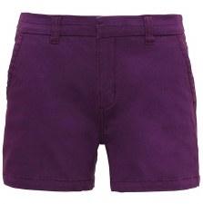 Asquith & Fox Womens Chino Shorts (Purple) 6