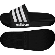 Adidas Adilette Shower Slide (Black White) 10