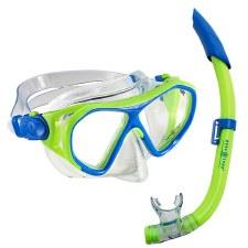 Aqua Lung Urchin Snorkle Set (Lime Blue) Junior