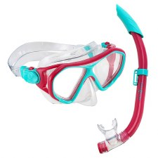Aqua Lung Urchin Snorkle Set (Purple Turquoise) Junior