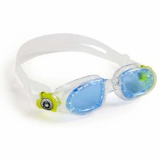 Aqua Sphere Moby Kids Swimming Goggles (Clear/Lime/Blue Lens) Kids