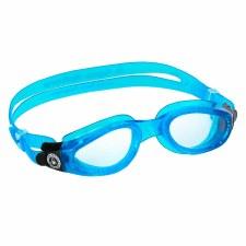 Aqua Sphere Kaiman Goggles (Blue/Clear Lens)  Adults Regular
