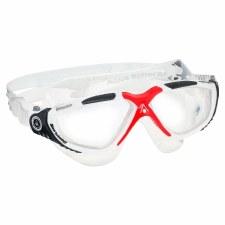 Aqua Sphere Vista Goggles (White Red Clear) Adults