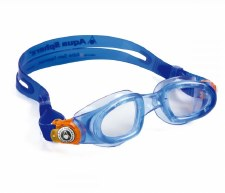 Aqua Sphere Moby Kids Swimming Goggle (Blue/Orange/Clear Lens)