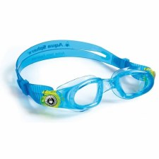 Aqua Sphere Moby Kids Swimming Goggle (Blue/Lime/Clear Lens)