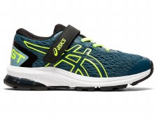 Asics GT1000 9 PS Kids (Teal Blue Yellow) 12