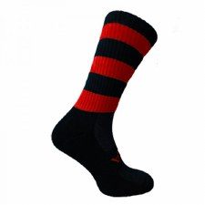 Atak Shox Mid Lenght Socks (Black Red) 10-2 Uk
