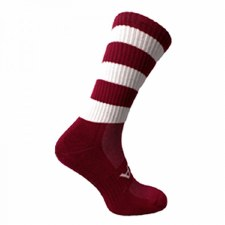 Atak Shox Mid Lenght Socks (Maroon White) 10-2 Uk
