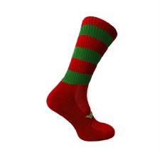 Atak Shox Mid Lenght Socks (Red Green) 10-2 Uk