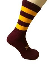 Atak Shox Mid Lenght Socks (Maroon Amber) 10-2 Uk