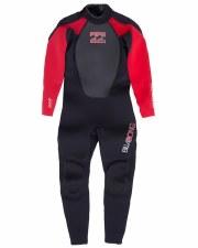 Billabong Intruder Kids 3/2 Full Wetsuit (Black Red) 10
