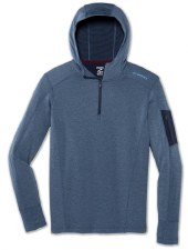Brooks Notch Thermal Hoodie (Indigo Blue) Large