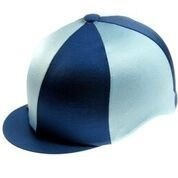 Capz Quartered Lycra Hat Cover (Navy Sky)