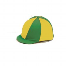 Capz Quartered Lycra Hat Cover (Green Yellow)
