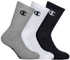 Champion Crew Socks (Grey White Black) Uk 3-5