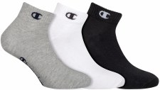 Champion Ankle Socks (Grey White Black) Uk 3-5