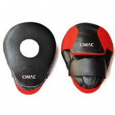 "Cimac Curved Focus Mitts 10"" (Black Red)"