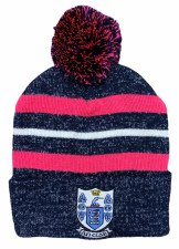 CS Clare Bobble Hat (Melange Navy Pink White) One Size