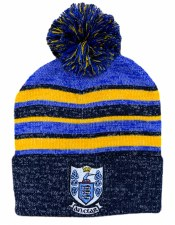 CS Clare Bobble Hat (Melange Navy Royal Amber) One Size