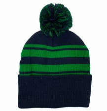 CS Bobble Hat (Navy Green) One Size