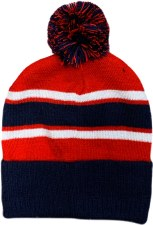 CS Bobble Hat (Navy Red White) One Size
