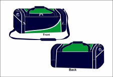 CS Team Holdall Medium (Navy Green White) Medium