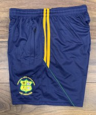 CS Kilmihil Zip Pocket Training Shorts (Navy Amber Green) 3-4