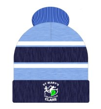 CS St Marys Athletic Club Bobble Hat (Melange Navy Sky White)
