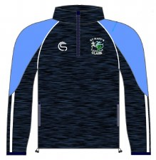 CS St Marys Athletic Club Half Zip (Melange Navy White) 5-6