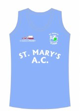 CS St Mary Athletic Club Running Vest (Sky White) 5-6