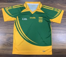 O'Neills Ennistymon Hurling Club Training Jersey (Green Amber) 7-8