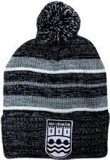CS Ennistymon Football Club Bobble Hat (Melange Black Grey White) OSFA
