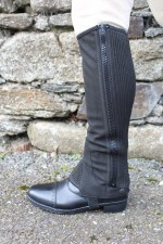 Equisential Amara Half Chaps Junior (Black) Small