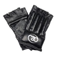 Fitness Mad Leather Fingerless Bag Glove (Black) Small