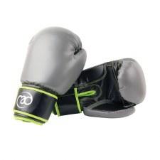Fitness Mad Sparring Gloves 12oz (Grey Black Green)