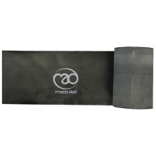 Fitness Mad Resistance Band 15 Metre Roll (Black) Strong