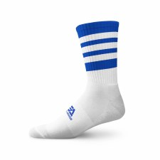 Gaelic Armour Elite Midi Sock (White Royal Hoops) 3-5