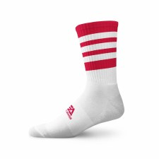 Gaelic Armour Elite Midi Sock (White Red Hoops) 3-5