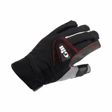 Gill Championship Short Finger Saing Gloves (Black Grey Red) Small