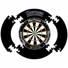 Harrows 4 Piece Dartboard Surround (Black)